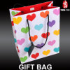 Colorful Love-Shaped Paper Gift Bag