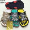 Zapatos ejercidos presión sobre superiores de la sandalia del deslizador del verano de los hombres del deslizador ocasional de la playa (HX16-59)