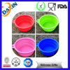 Lids를 가진 음식 Keeper Silicone Foldable Round Bowl