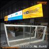 Exhibición de aluminio modificada para requisitos particulares de la exposición de la materia textil LED
