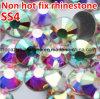 Ss4-Ss40 borran los Rhinestones Svarovsky cristalino (FB-ss4-ss40 cristal el ab) del sombrero de los Rhinestones del Ab no Hotfix Flatback del cristal