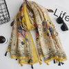 Écharpes légères Envelopper-Douces estampées colorées de châle pour des femmes