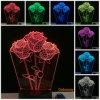 Светильник таблицы касания формы 3D Rose для светов ночи украшения венчания Fairy как заряжатель USB подарков Valentine