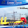 3 Axles 60t Flatbed Low Bed Drawbar Full Trailer