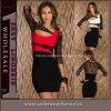 도매 3/4 일치 색깔 레이스 여자 미니 드레스 (N162)