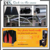 Sale quente Pipe e Drap Steel Stands com Elegant Fabric para Photo Booth, Pipe & Drape Ter Promotion Now