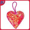 Suspensão dada forma coração do Glitter para a decoração da árvore do partido e de Natal