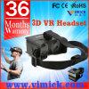 Plastic preto Google Cardboard Virtual Reality 3D Film Glasses para o telemóvel