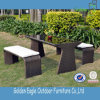 贅沢な柳細工の家具の庭のベンチ