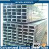 Tubulação de aço galvanizada Prepainted laminada a alta temperatura 25*25*1.0mm do quadrado da classe Q195