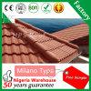 Material de construção quente da venda de África da telha de pedra revestida de pedra das telhas de telhado do metal