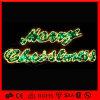 PVC花輪屋外LEDの装飾のクリスマスの文字ライト