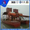 Areia de ferro que bombeia & que separa o barco de dragagem para a mineração da areia do mar