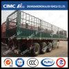 Cimc Huajun Estaca-Cargo Trailer com Roof Rail