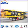 reboque carreg Flatbed do recipiente 3axle de 40FT Semi