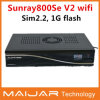2014新しいArrival Sunray Se V2 WiFi Dm800se-S V2 1GB Flash 512MB RAM SIM2.2 400MHz Processor Box Sunray Satellite Receiver