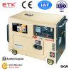 Monophasé de générateur diesel simple refroidi à l'air de cylindre (5KW)