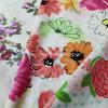 tela de la gasa 100%Cotton para arropar con la flor impresa (60X60/90X88)