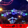 Van het LEIDENE van Kerstmis de Lichten van de Bal Motief van de Straat