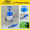 pulverizador da compressão 3L, pulverizador do jardim da mão