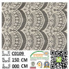 Lady GarmentおよびDress C0109のためのポリエステルLace Fabric