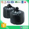 Bolso de basura plano resistente del negro del sello
