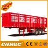Van-Type semi-remorque de couleur rouge de cargaison de camion