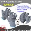 10g серый полиэстер / хлопок трикотажные пальцев перчатки с 2-х сторон черный ПВХ Criss-Cross покрытие / EN388: 124x