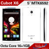 ROM Android Smartphone 5.0 Inch IPS OTG HD Ogs 13MP Camera Cell Phones van Cubot X6 Mtk6592 Octa Core 1GB RAM 16GB