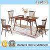 Conjunto de cena de madera simple de la silla del restaurante del diseño moderno
