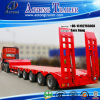 5 árboles 80tons Hydraulic Low Bed Semi Truck Trailer