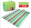 Ruarl RedおよびGreen Color Bar Microfiber Picnic Blanket