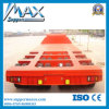 3 Lines Six Axles 14m 무겁 의무 Low Flat Bed Semi Trailer