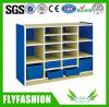 Armário de armazenamento de madeira Eco-Friendly da criança com gavetas plásticas (SF-119C)