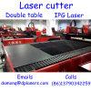 cortador do laser da fibra do CNC 1000W com a tabela dobro construída no laser estável preciso de Ipg