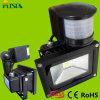 옥외 점화 도매를 위한 가장 새로운 LED PIR 20W 플러드 빛
