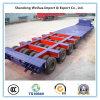 Ligne 4 8 remorque de la Chine 53FT lourde des essieux 150t Lowbed semi