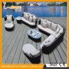 Il sofà di vimini multifunzionale della mobilia domestica di alluminio di disegno moderno imposta la mobilia esterna del rattan