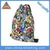 キャンバスのドローストリング混合されたカラー余暇の女性ランドセルのバックパック