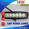 Auto luz de inundação 4WD do projector da luz do trabalho do diodo emissor de luz IP68 Offroad 18W