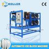 Máquina automática do bloco de gelo de Koller Dk10, fabricante de gelo para África