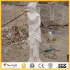 Découpage de la sculpture blanche en marbre de jade de statue en pierre pour la décoration de jardin