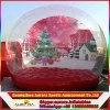 Facendo pubblicità al globo umano gonfiabile gigante della neve, decorazione del globo della neve della foto,