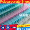 Strato gemellare del policarbonato della cavità della parete per il materiale da costruzione della costruzione