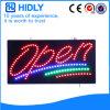 Geöffnetes Zeichen des Hidly Vierecks-Umweltschutz-LED
