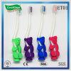 Toothbrush de nylon dos filamentos dos miúdos com o punho antiderrapante do urso TPR