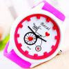 Reloj lindo colorido del departamento del amor del engranaje de los niños