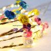 Het LEIDENE Koord steekt het Batterij In werking gestelde Decor van het Huwelijk van de Partij van LEIDENE Paperflower Kerstmis van de Fee Lichte Openlucht aan