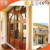 Porte articulée par aluminium thermique plaqué personnalisée d'interruption en bois solide de taille