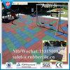 Azulejo de goma reciclado cuadrado de interior, azulejo Desgastar-Resistente del patio